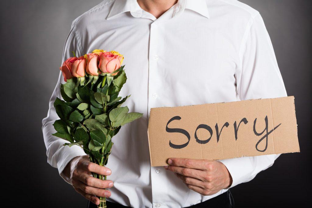 معذرت خواهی با اهدای گل