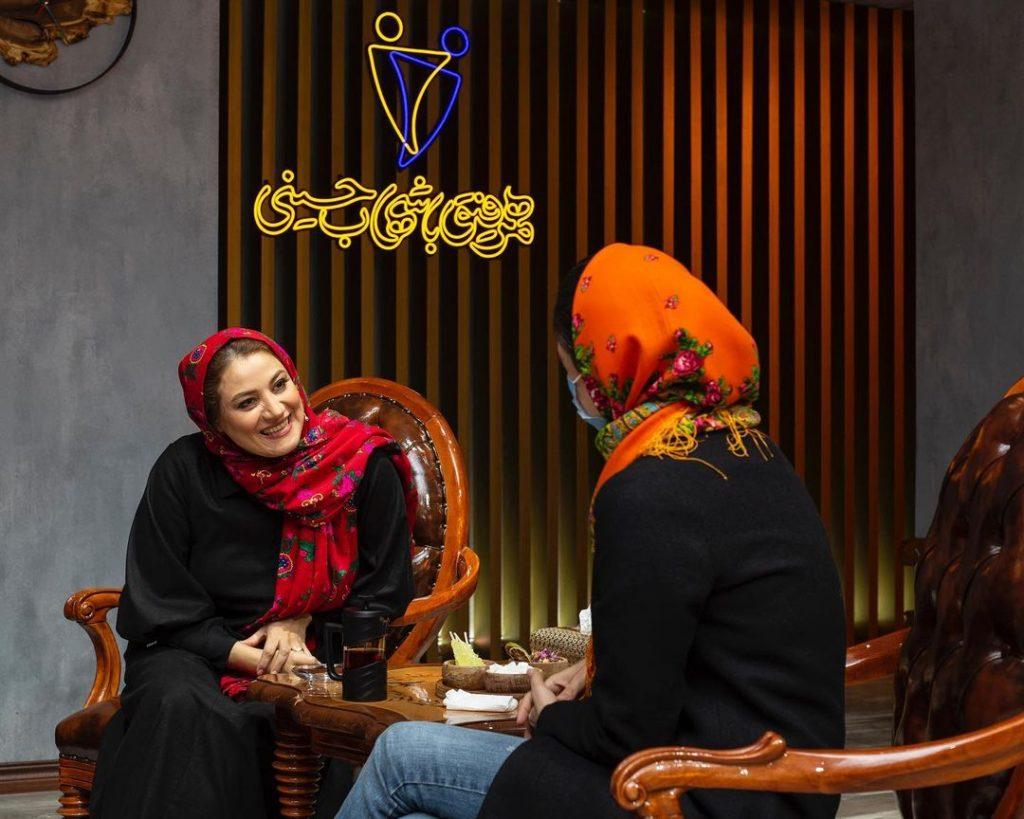 پشت صحنه همرفیق شبنم مقدمی و مریم شیرازی
